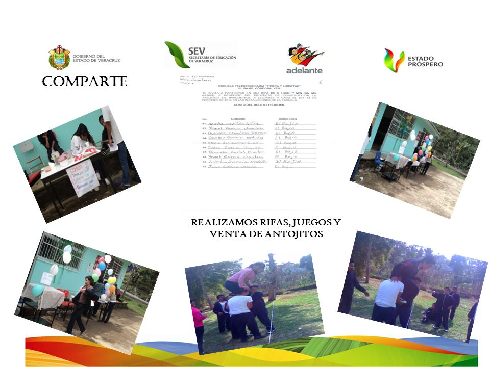 REALIZAMOS RIFAS, JUEGOS Y VENTA DE ANTOJITOS