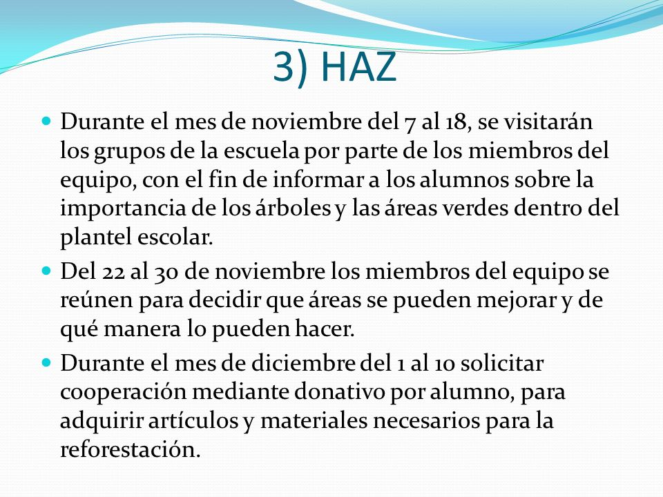 3) HAZ