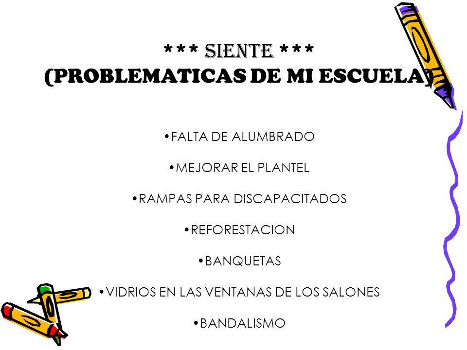(PROBLEMATICAS DE MI ESCUELA)