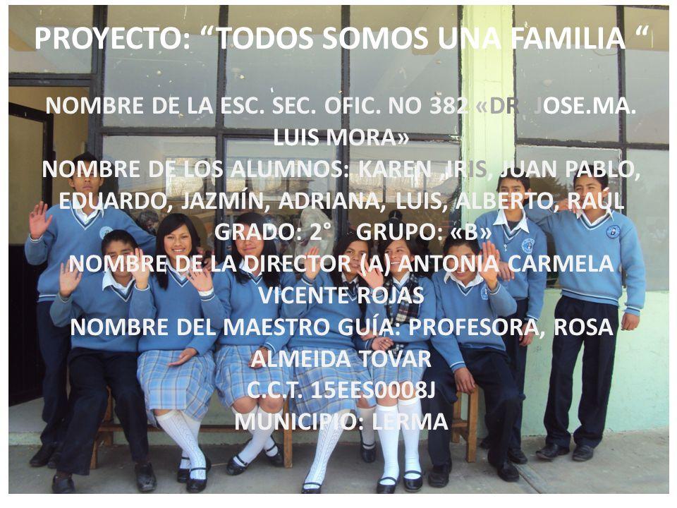 PROYECTO: TODOS SOMOS UNA FAMILIA