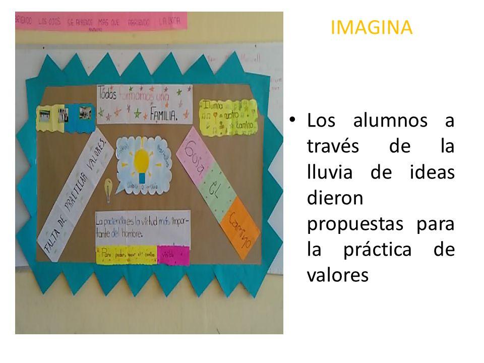 IMAGINA Los alumnos a través de la lluvia de ideas dieron propuestas para la práctica de valores