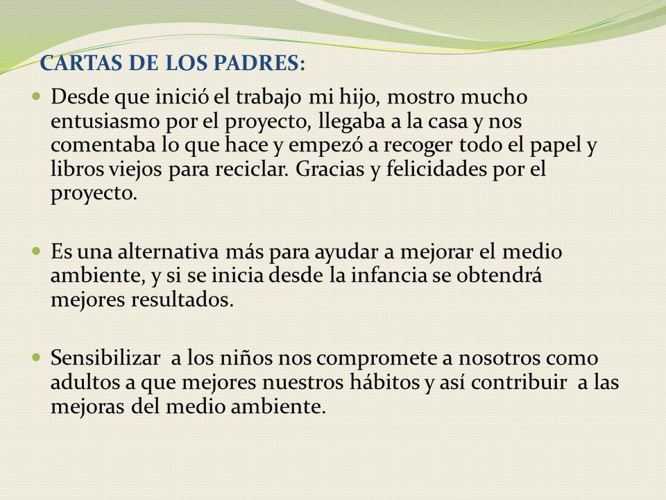 CARTAS DE LOS PADRES:
