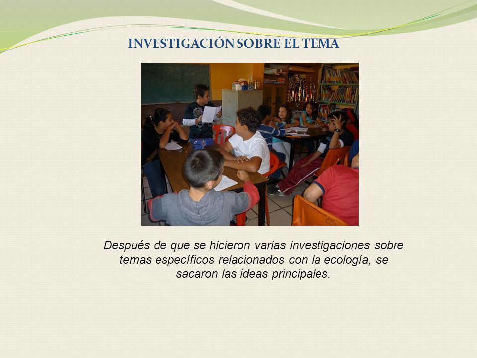 INVESTIGACIÓN SOBRE EL TEMA