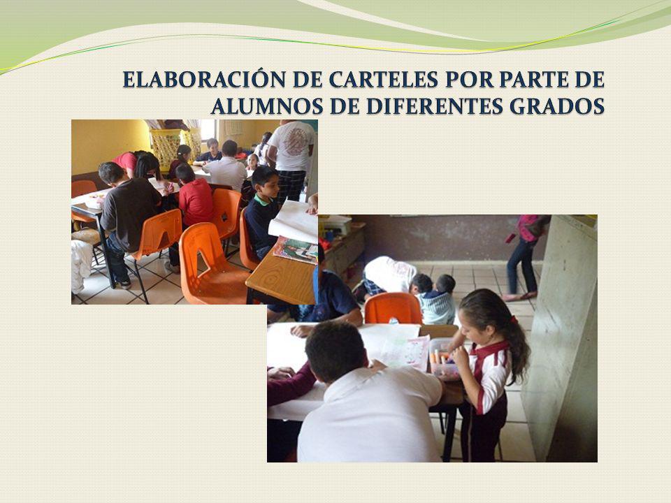 ELABORACIÓN DE CARTELES POR PARTE DE ALUMNOS DE DIFERENTES GRADOS