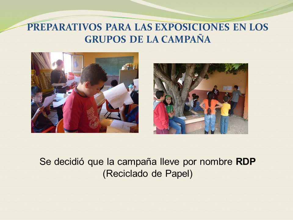 PREPARATIVOS PARA LAS EXPOSICIONES EN LOS GRUPOS DE LA CAMPAÑA