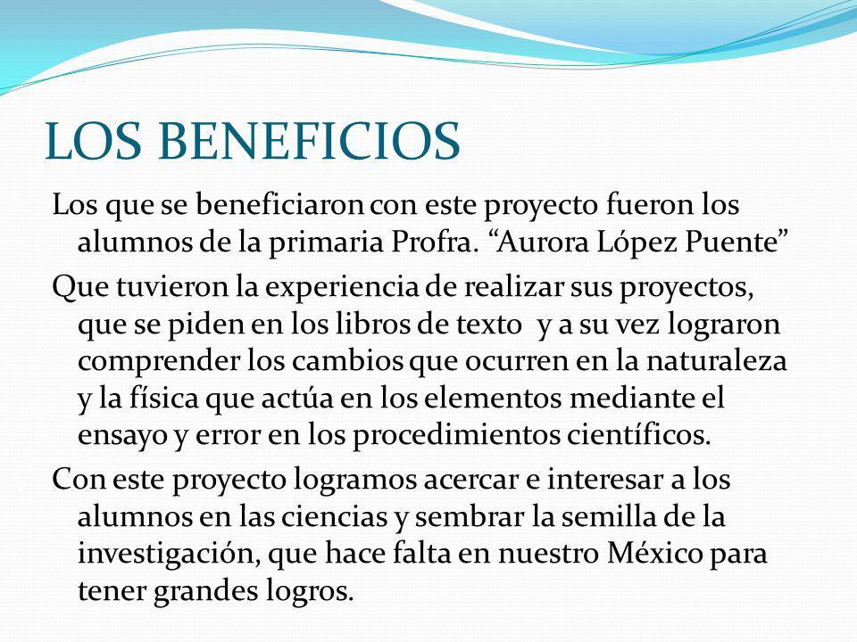 LOS BENEFICIOS