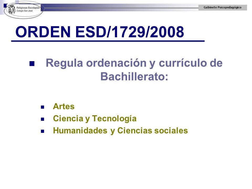 Regula ordenación y currículo de Bachillerato: