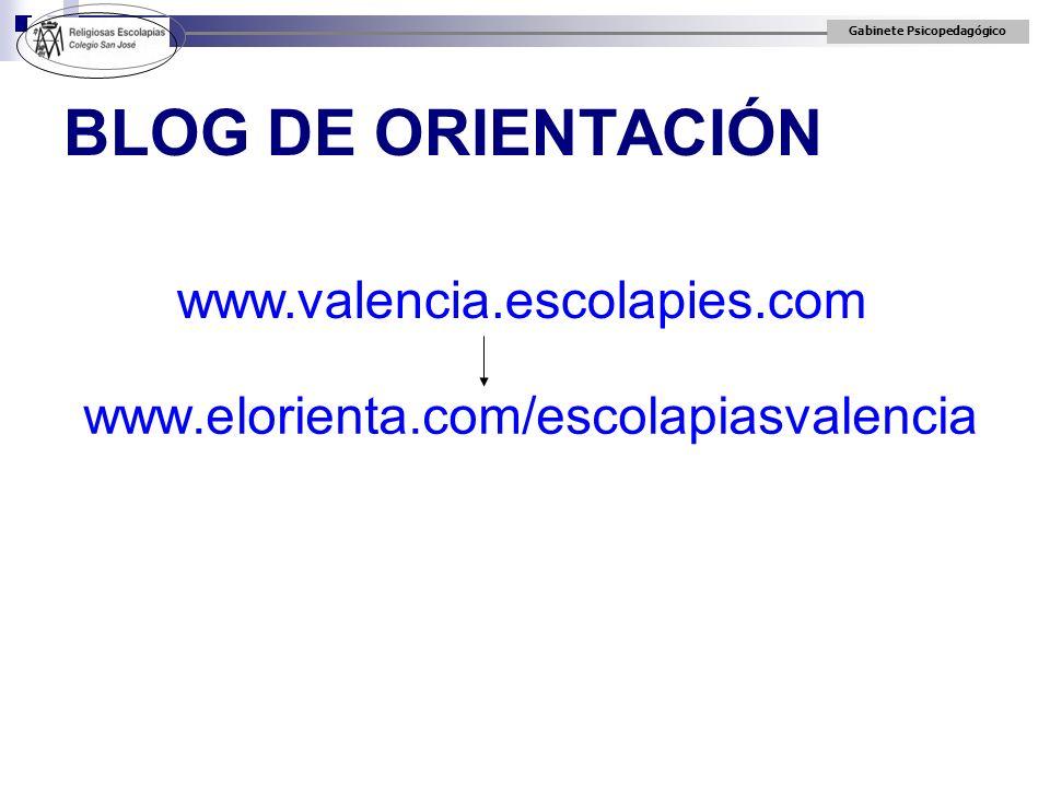 BLOG DE ORIENTACIÓN www.valencia.escolapies.com