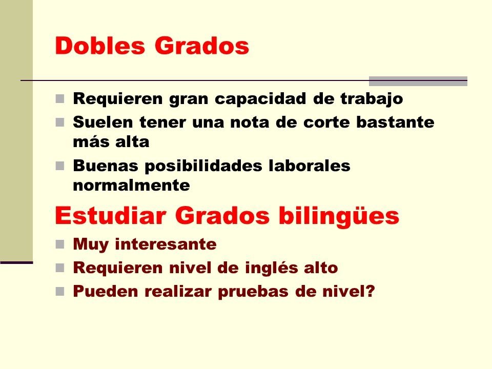 Estudiar Grados bilingües