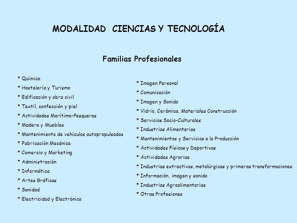 Familias Profesionales