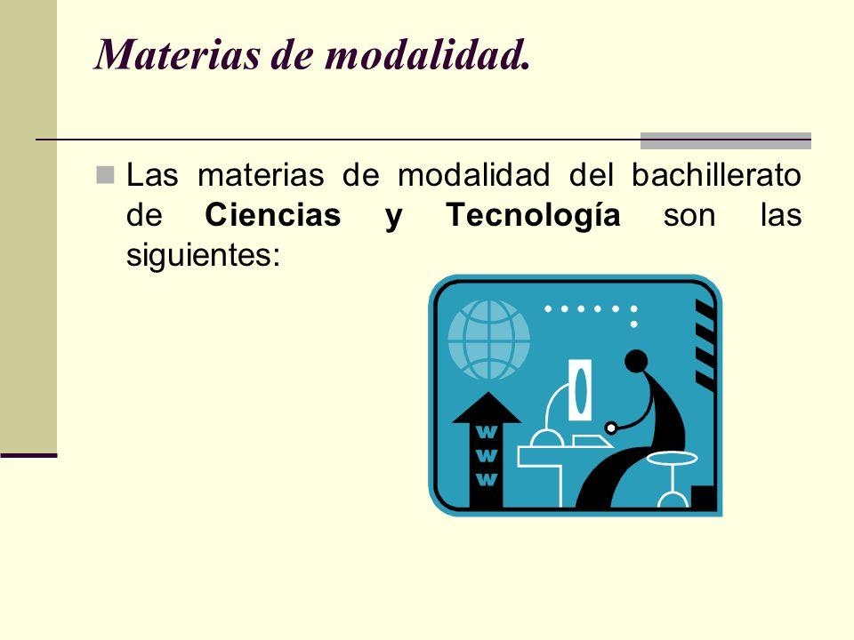 Materias de modalidad.