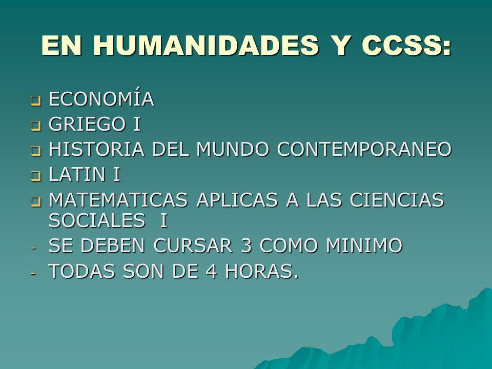EN HUMANIDADES Y CCSS: ECONOMÍA GRIEGO I