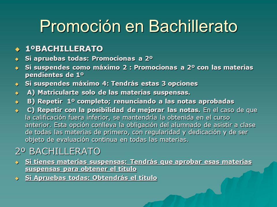 Promoción en Bachillerato