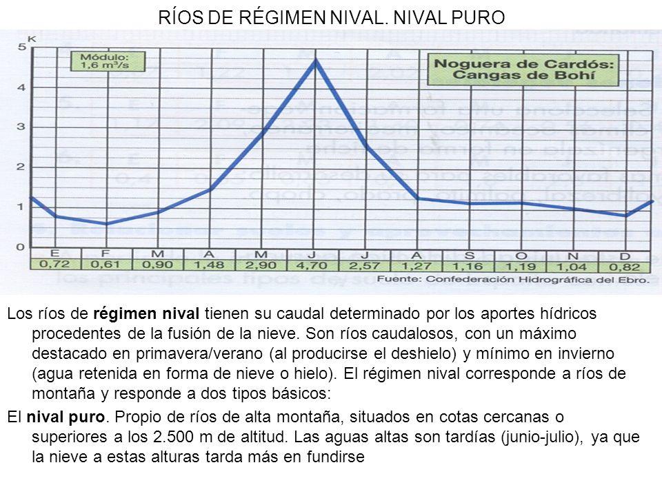 RÍOS DE RÉGIMEN NIVAL. NIVAL PURO