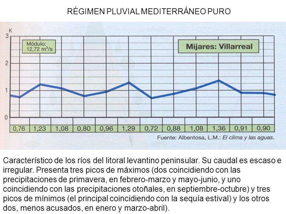 RÉGIMEN PLUVIAL MEDITERRÁNEO PURO