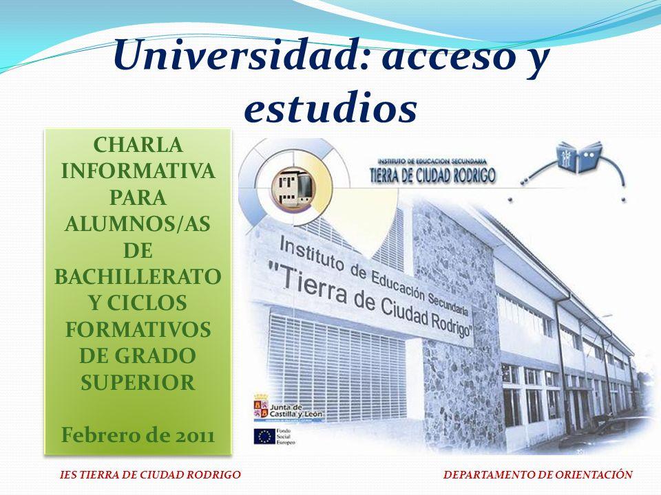 Universidad: acceso y estudios