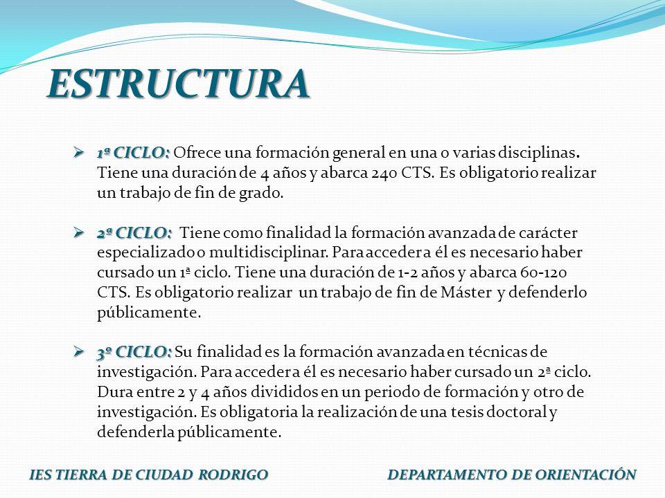 IES TIERRA DE CIUDAD RODRIGO DEPARTAMENTO DE ORIENTACIÓN