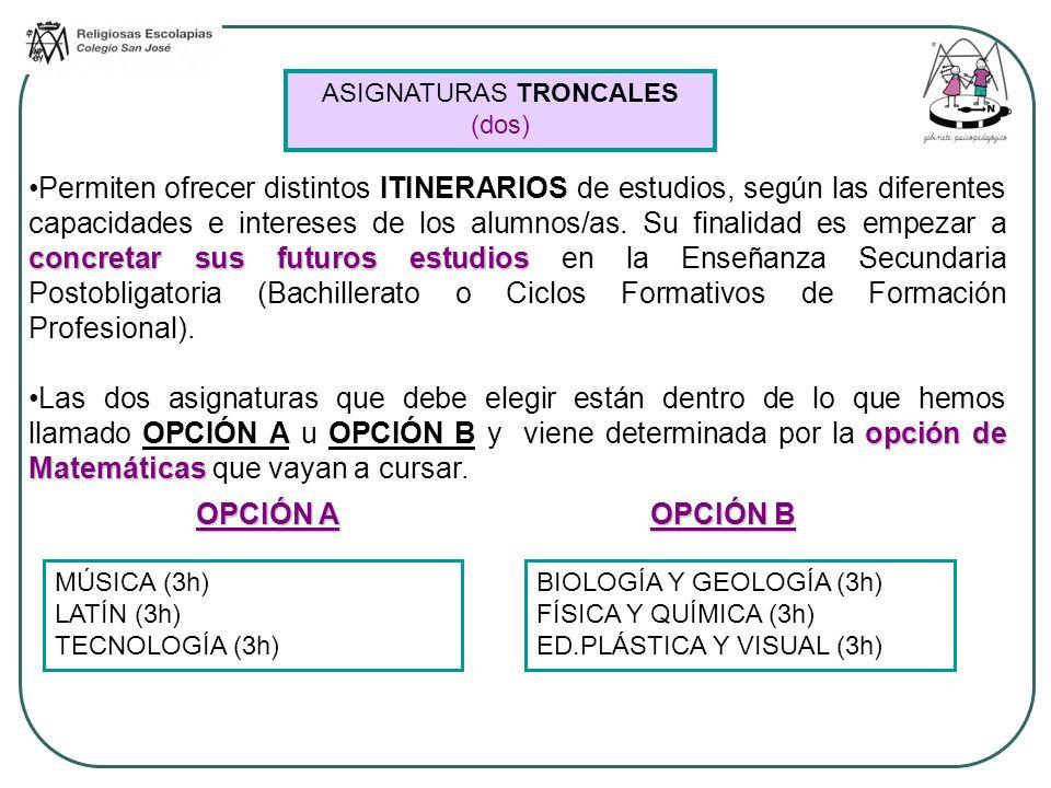 ASIGNATURAS TRONCALES (dos)