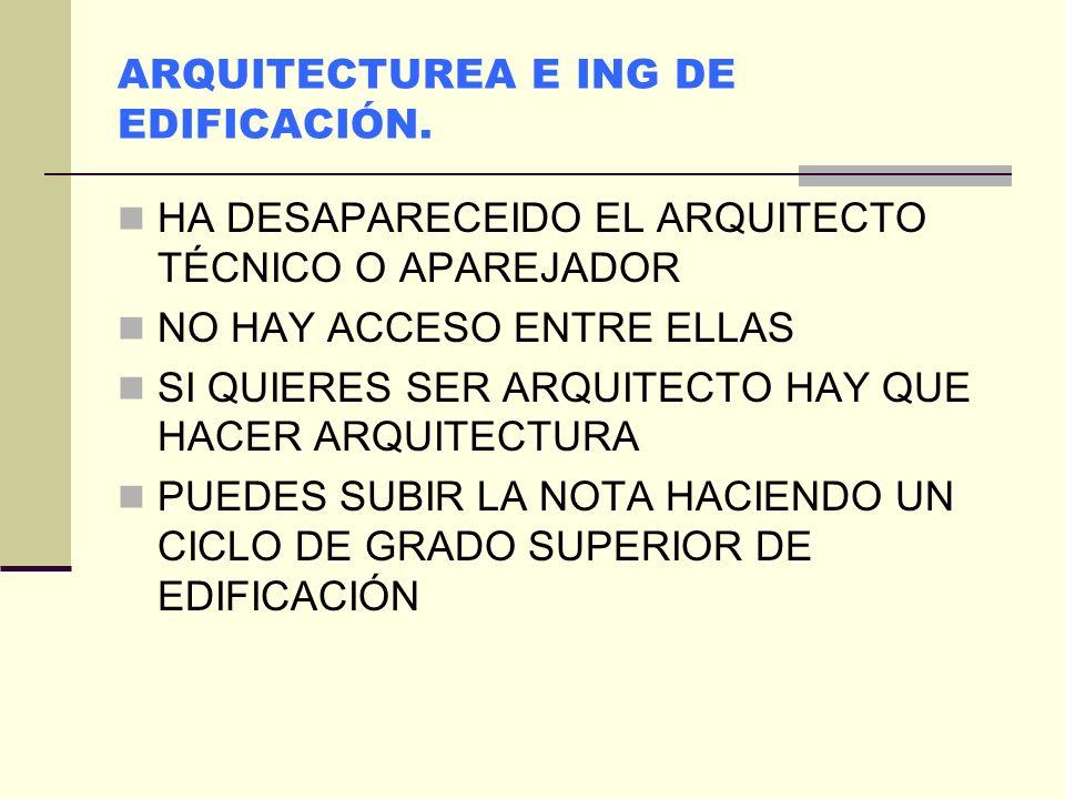 ARQUITECTUREA E ING DE EDIFICACIÓN.