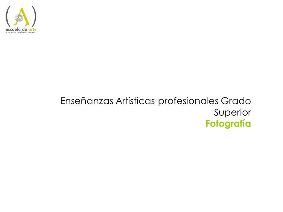 Enseñanzas Artísticas profesionales Grado Superior