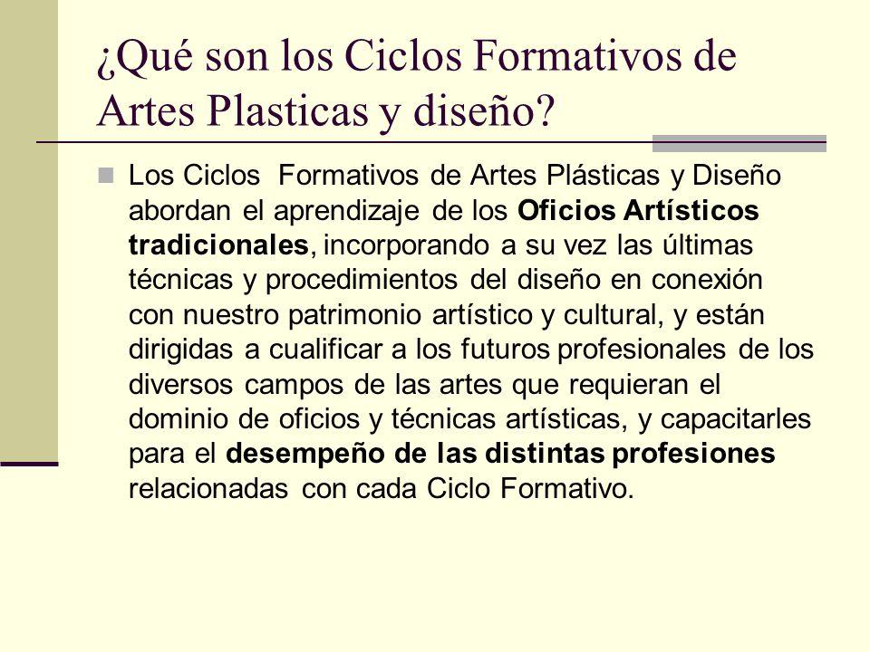 ¿Qué son los Ciclos Formativos de Artes Plasticas y diseño