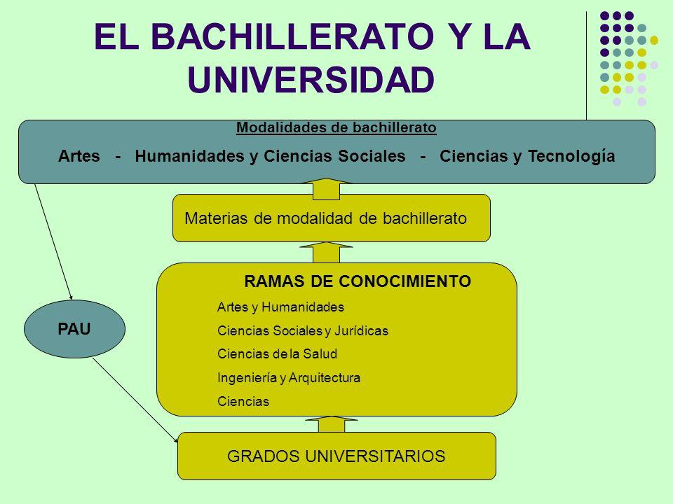 EL BACHILLERATO Y LA UNIVERSIDAD