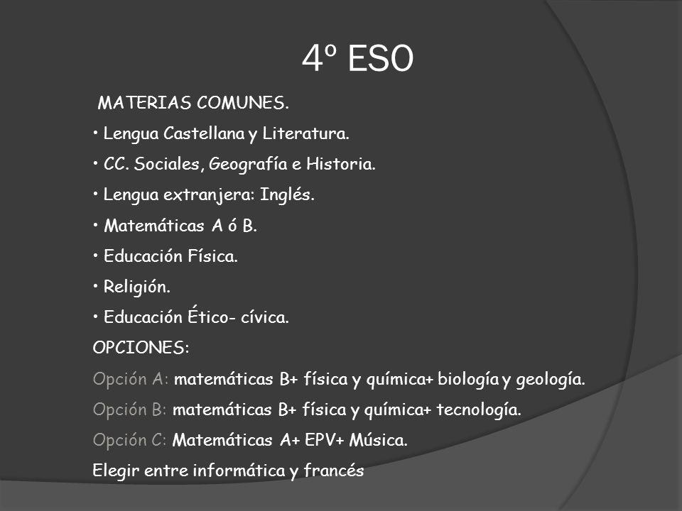 4º ESO MATERIAS COMUNES. Lengua Castellana y Literatura.