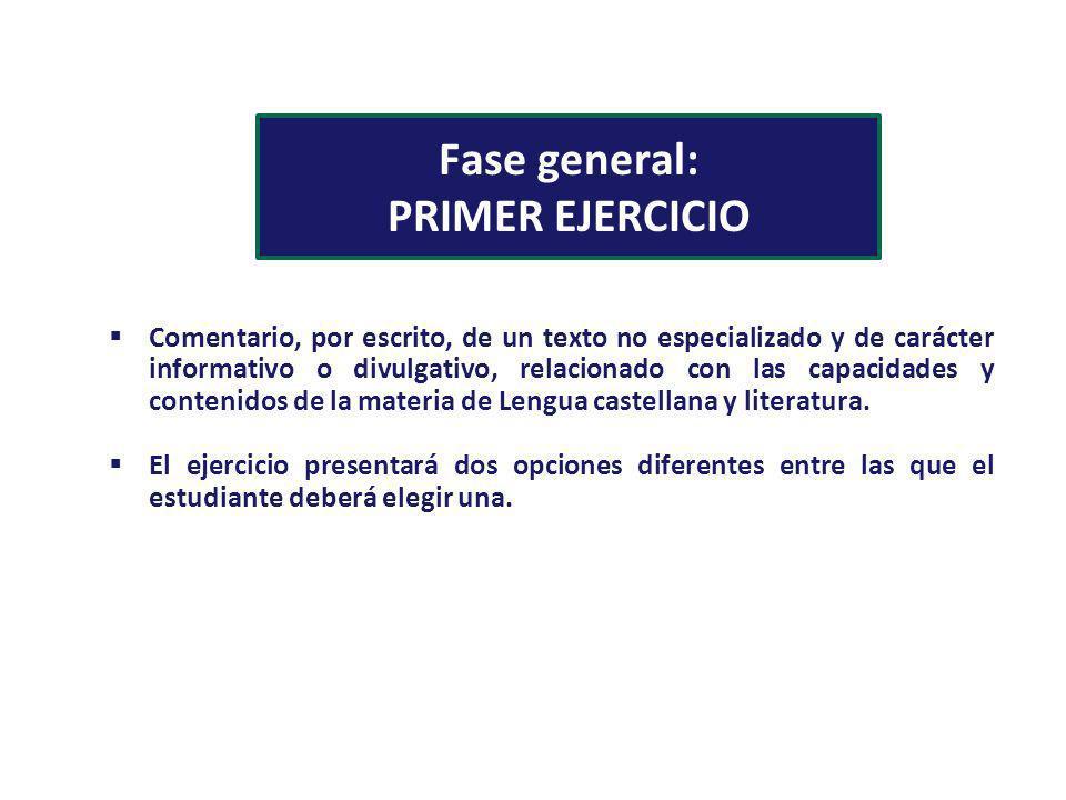 Fase general: PRIMER EJERCICIO
