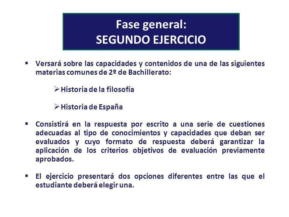 Fase general: SEGUNDO EJERCICIO