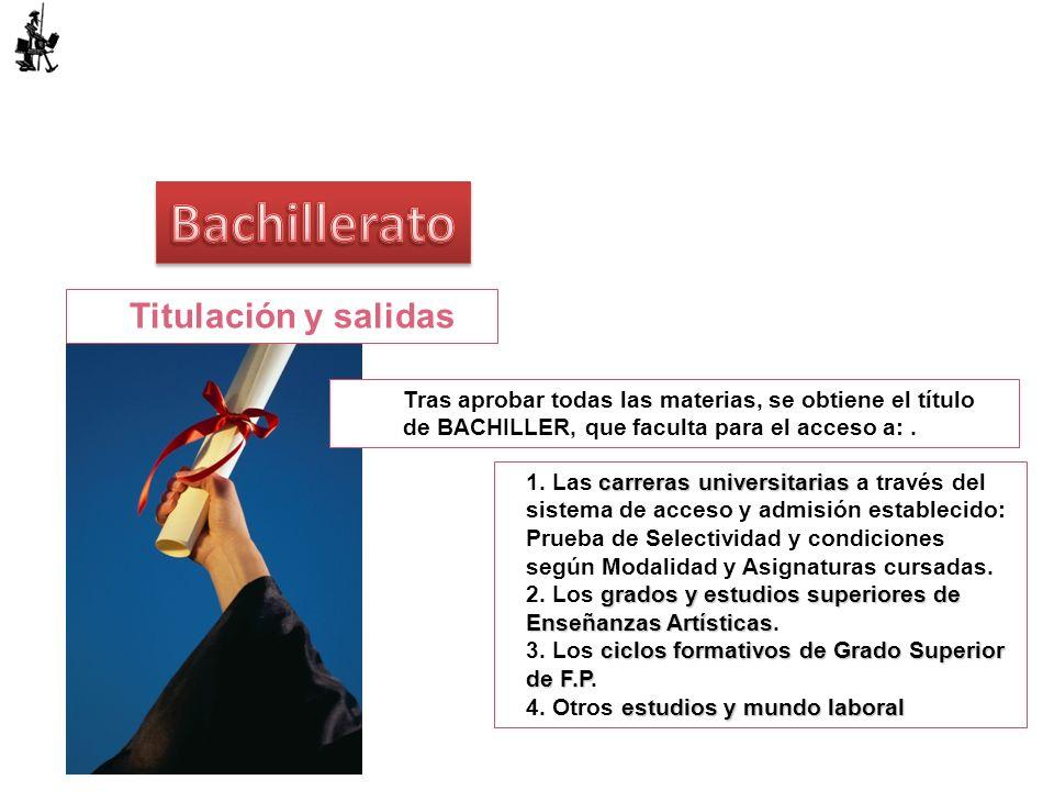 Bachillerato Titulación y salidas