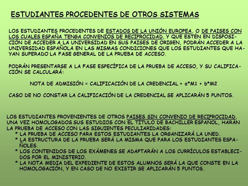 ESTUDIANTES PROCEDENTES DE OTROS SISTEMAS