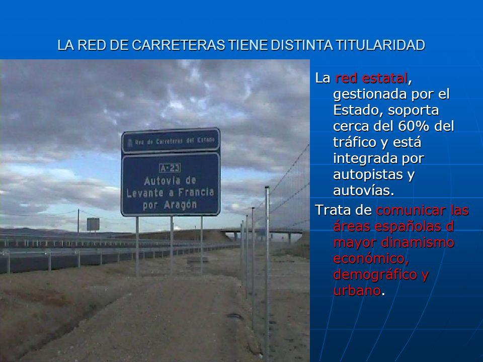 LA RED DE CARRETERAS TIENE DISTINTA TITULARIDAD