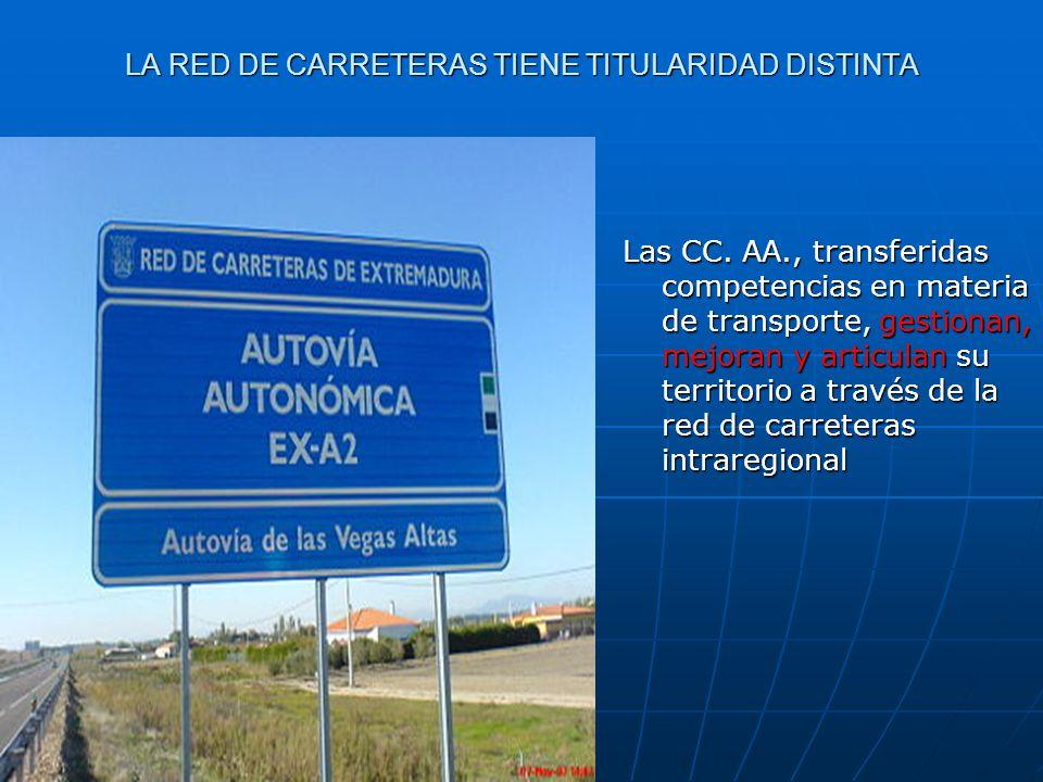 LA RED DE CARRETERAS TIENE TITULARIDAD DISTINTA