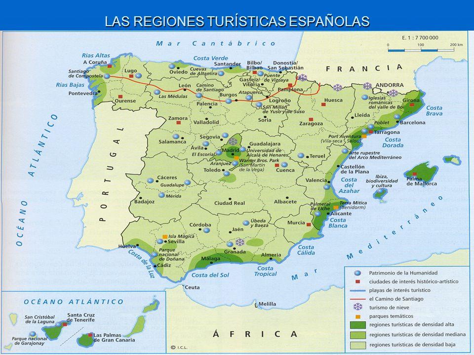 LAS REGIONES TURÍSTICAS ESPAÑOLAS