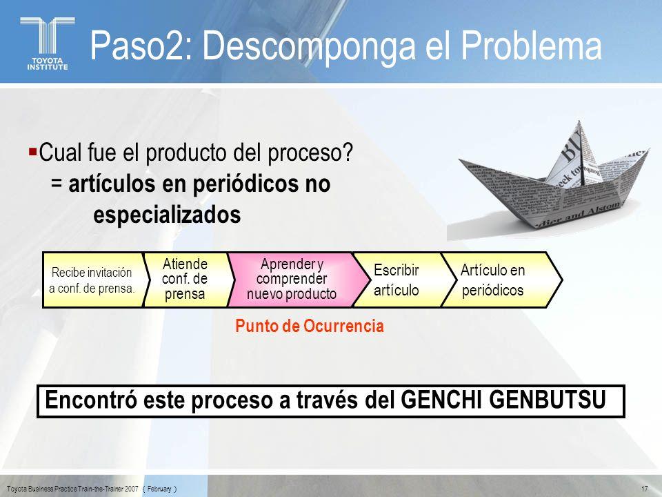 Paso2: Descomponga el Problema