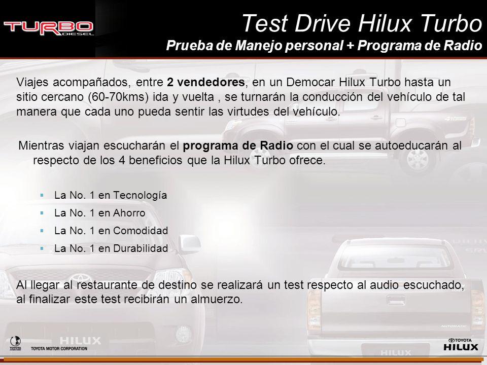Test Drive Hilux Turbo Prueba de Manejo personal + Programa de Radio