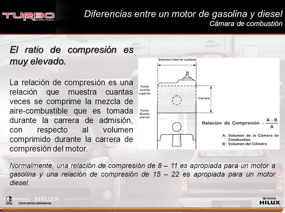 Diferencias entre un motor de gasolina y diesel Cámara de combustión