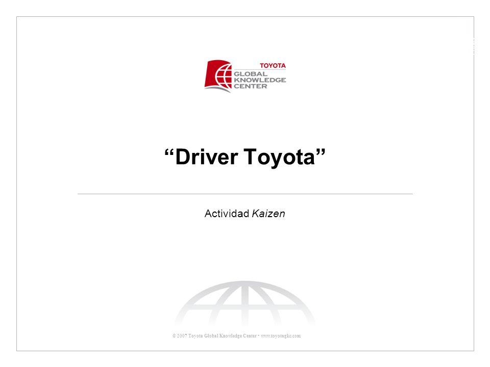 Driver Toyota Actividad Kaizen Principios de Kaizen (Continúa)
