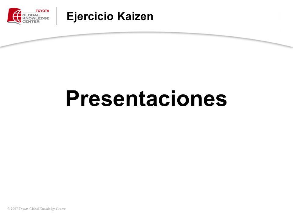 Presentaciones Ejercicio Kaizen Principios de Kaizen (Continúa)