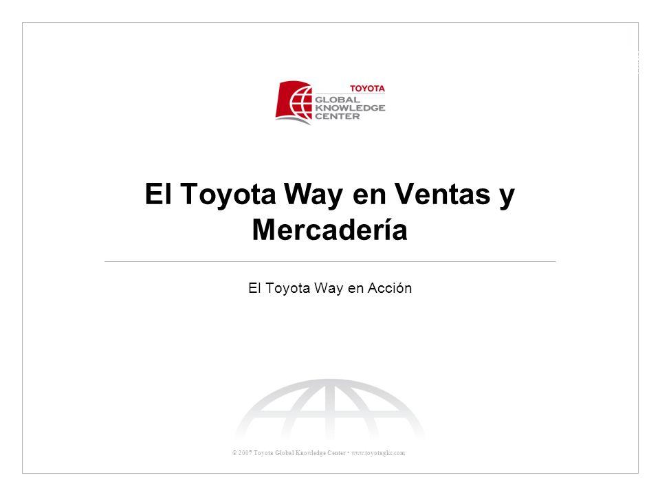 El Toyota Way en Ventas y Mercadería