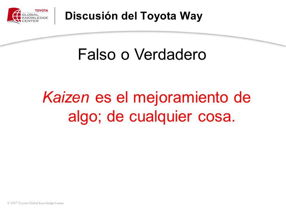 Discusión del Toyota Way