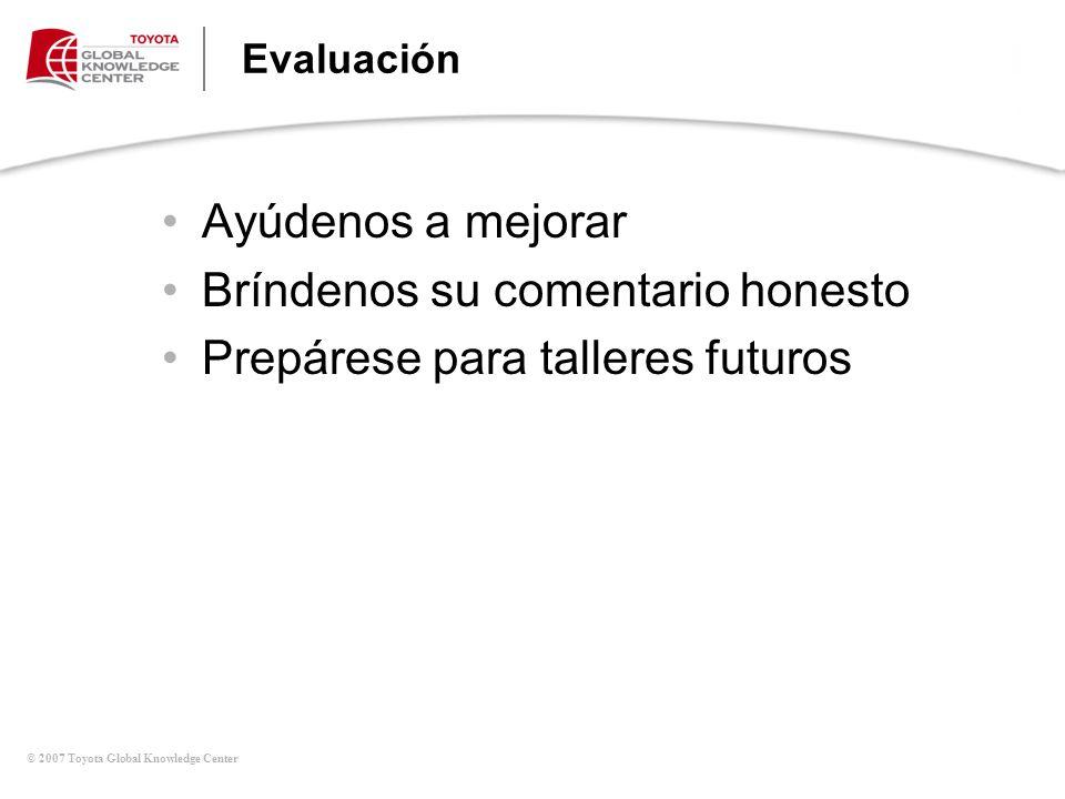 Bríndenos su comentario honesto Prepárese para talleres futuros