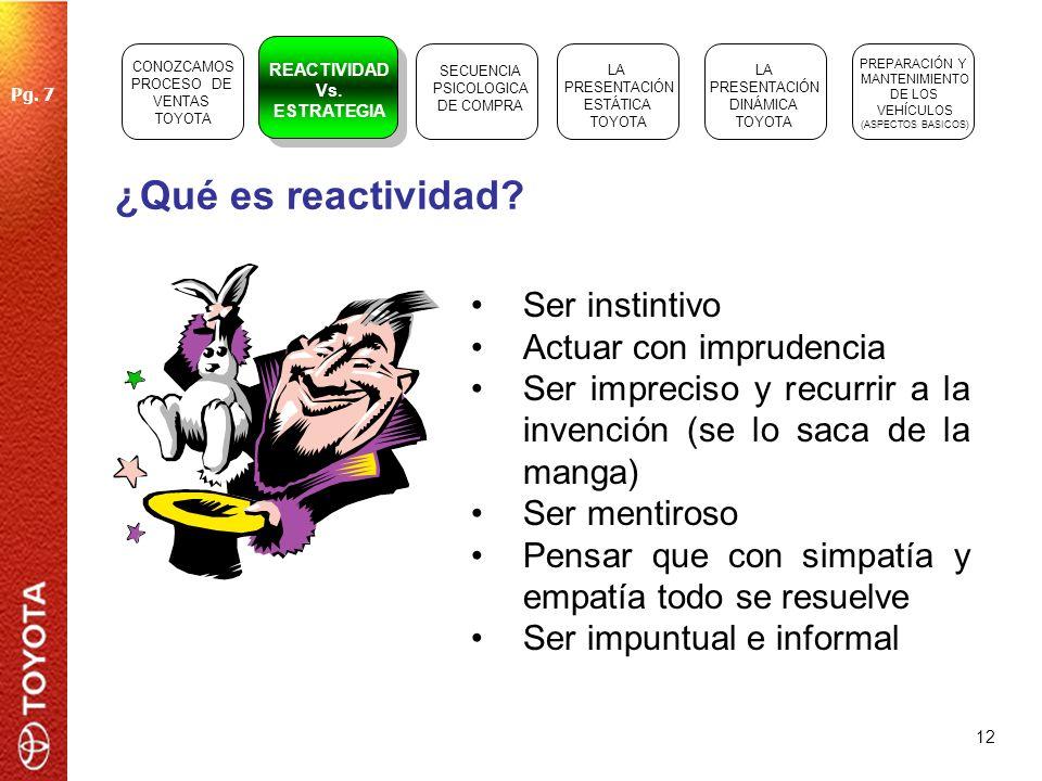 ¿Qué es reactividad Ser instintivo Actuar con imprudencia