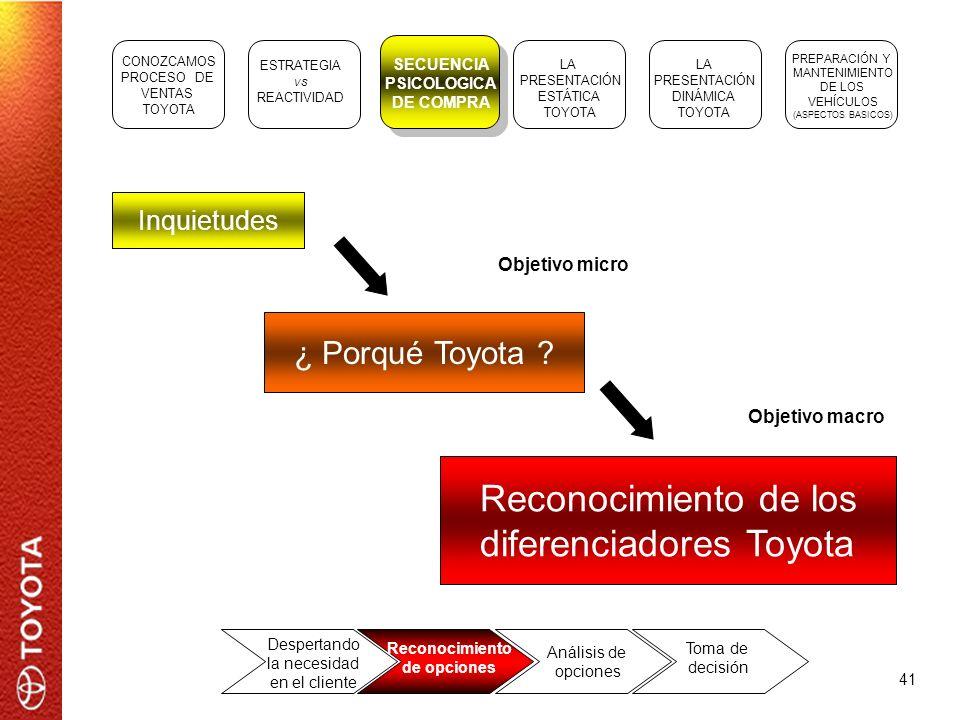 diferenciadores Toyota