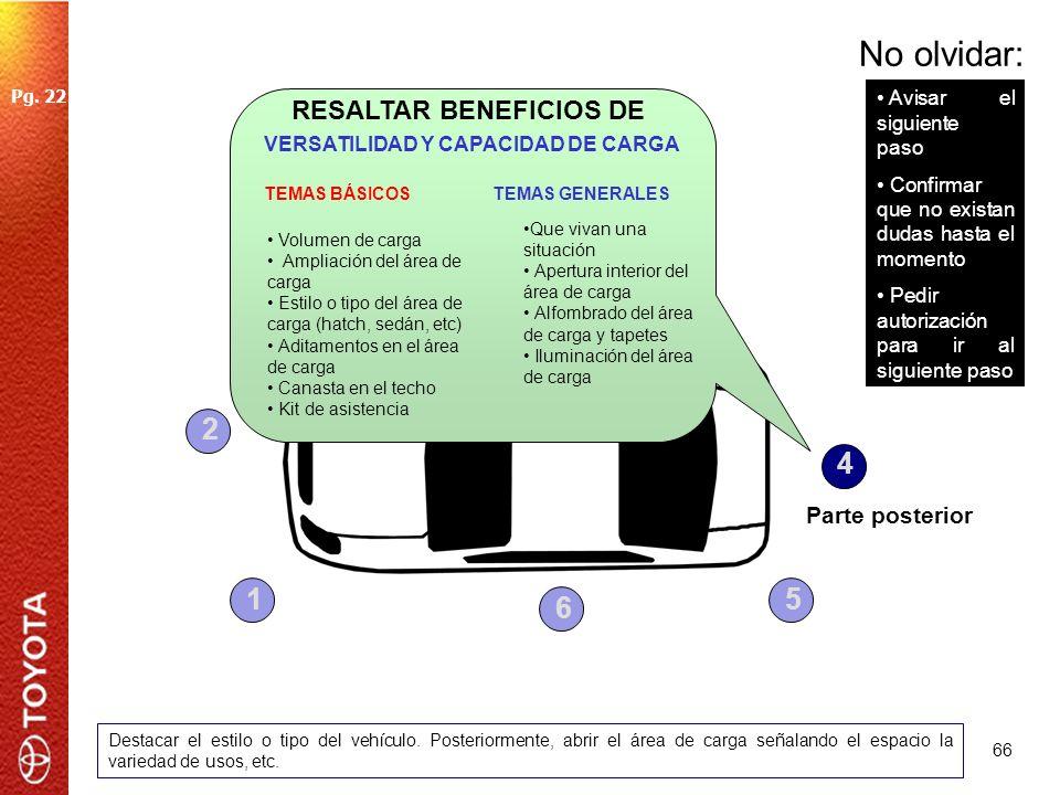 RESALTAR BENEFICIOS DE VERSATILIDAD Y CAPACIDAD DE CARGA