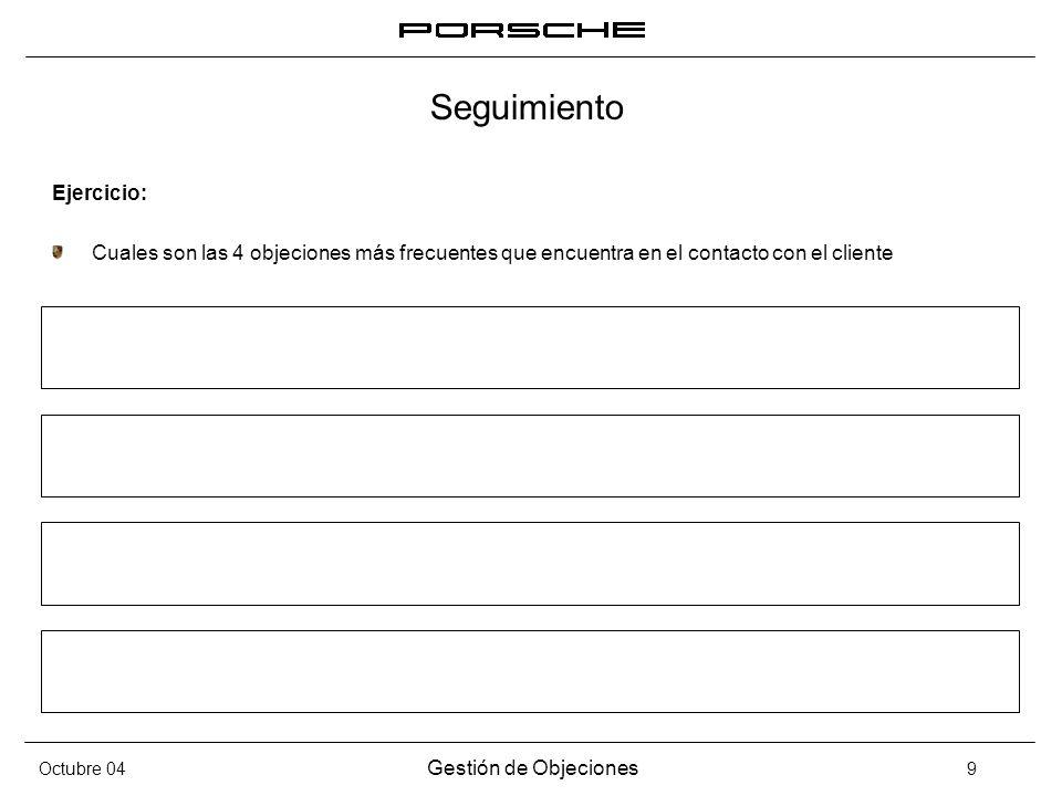 Seguimiento Ejercicio: