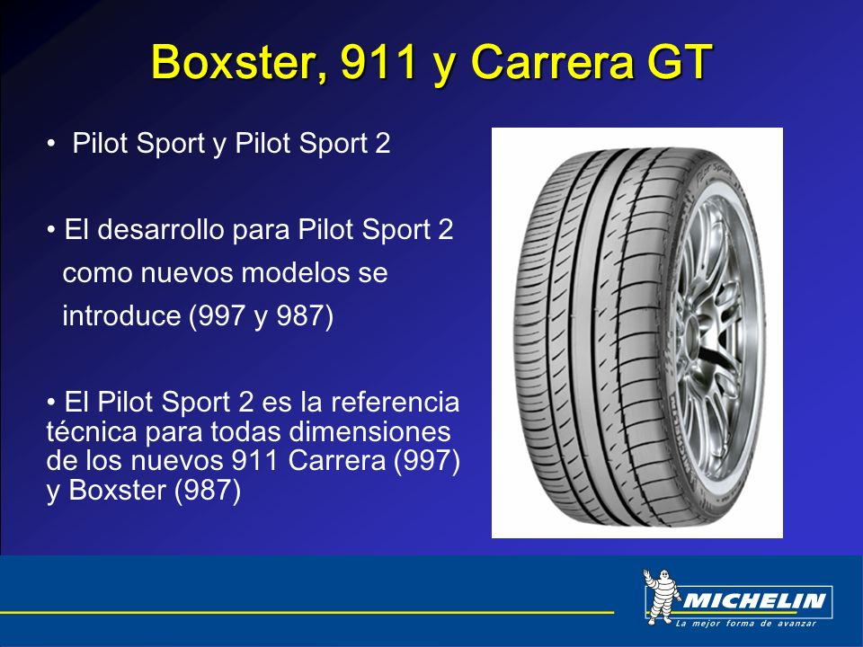 Boxster, 911 y Carrera GT Pilot Sport y Pilot Sport 2