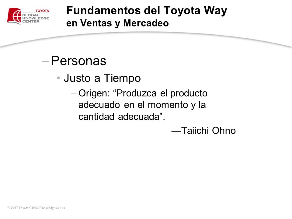 Fundamentos del Toyota Way en Ventas y Mercadeo