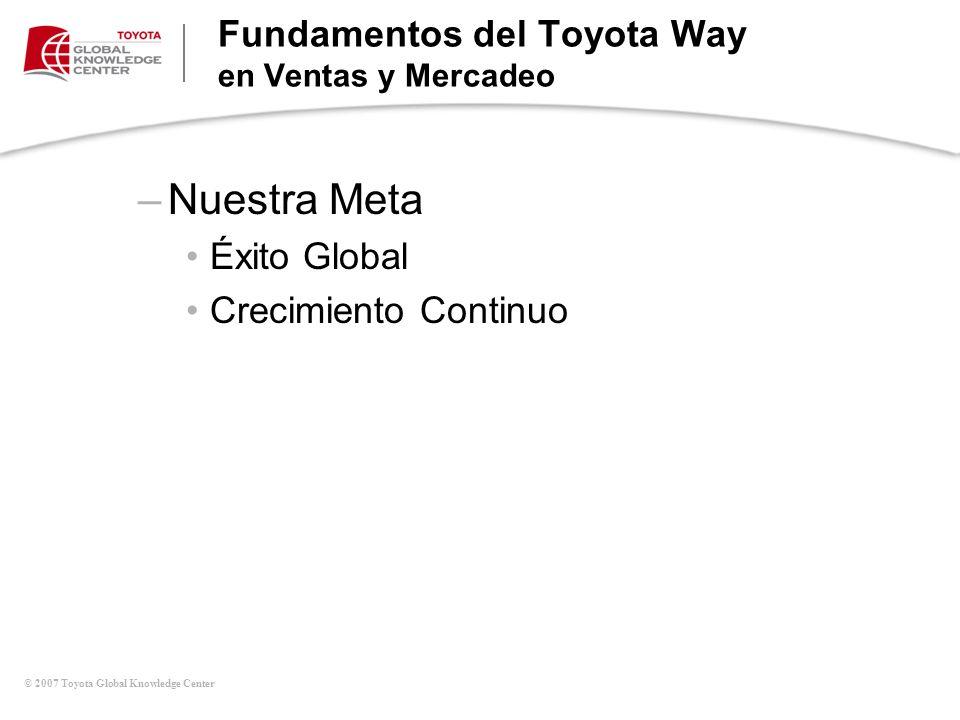 Fundamentos del Toyota Way en Ventas y Mercadeo