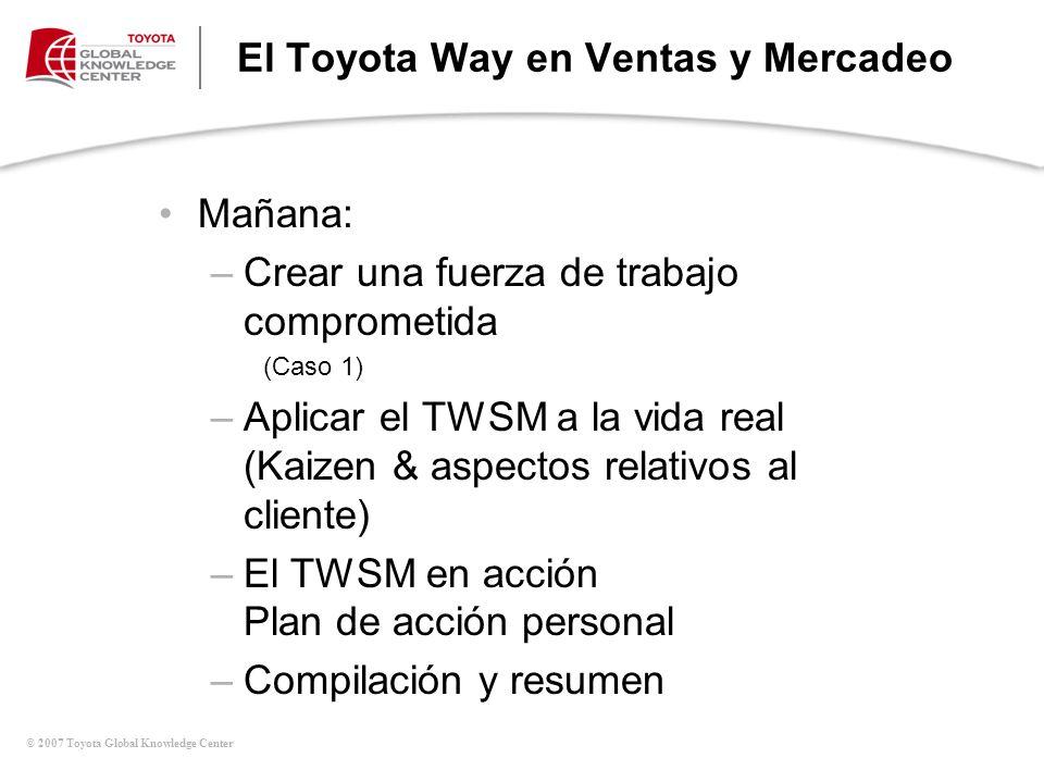 El Toyota Way en Ventas y Mercadeo